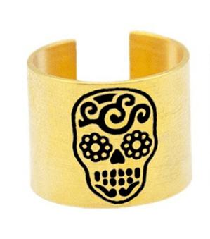 Anel Caveira Mexicana Dourado – SkullAchando