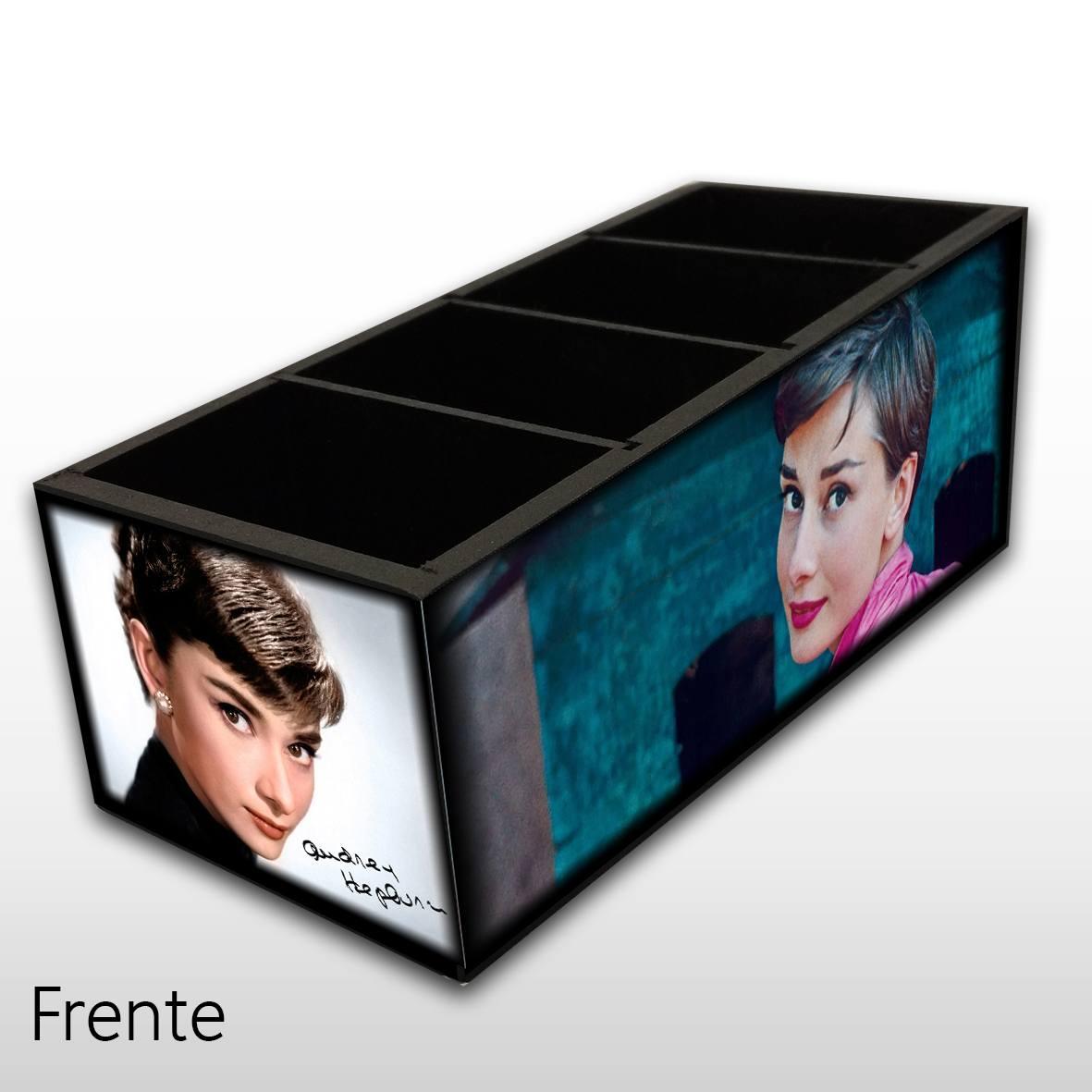 Audrey Hepburn - Porta Controles MDF - 4 Espaços - Mr. Rock