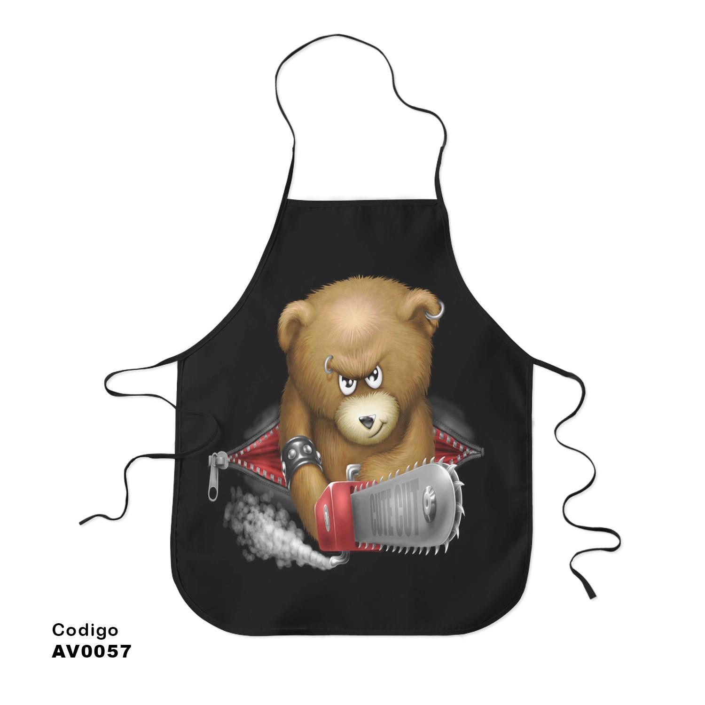 Avental Exclusivo Urso Tedy 3d