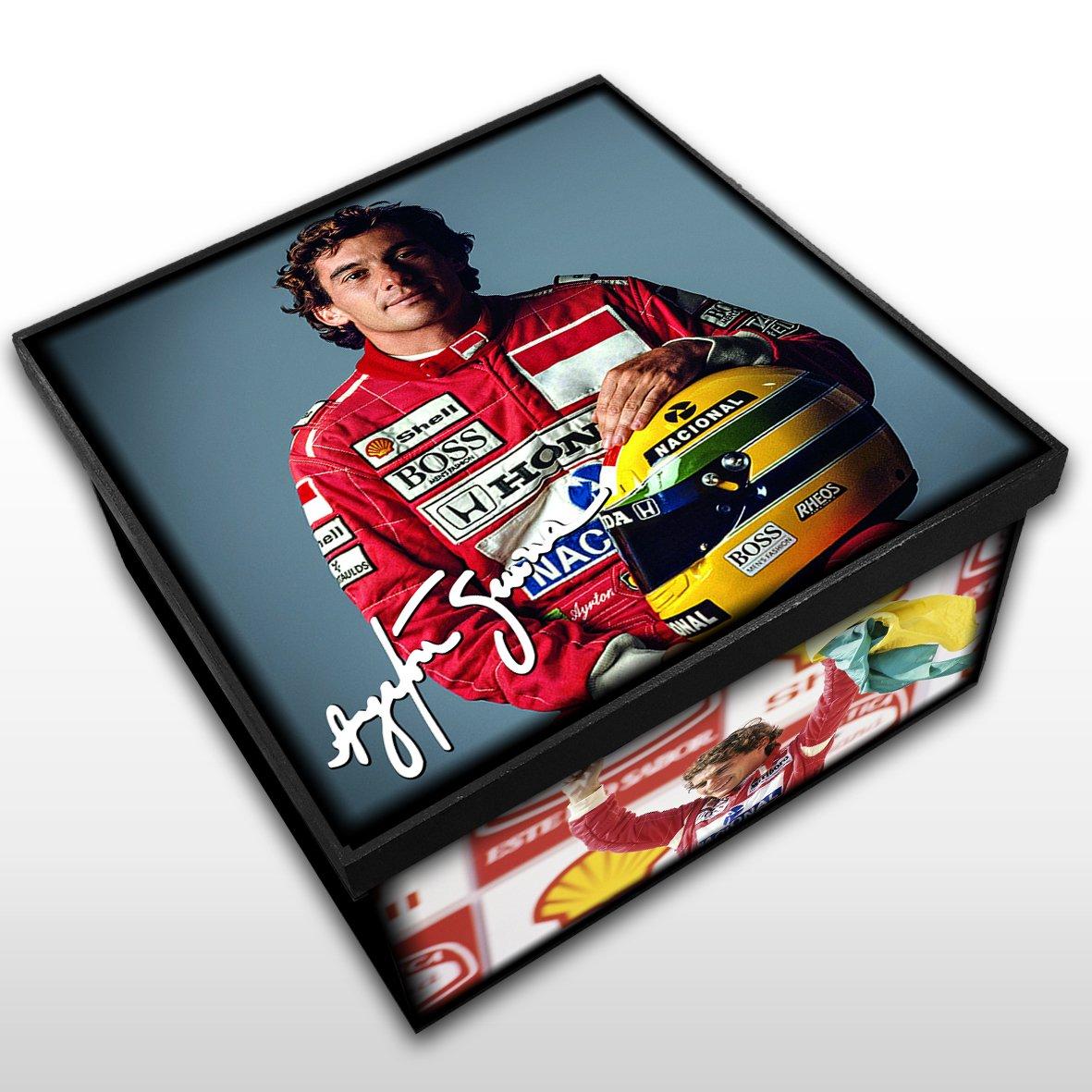 Ayrton Senna - Caixa em MDF - Tam. Médio - Mr. Rock