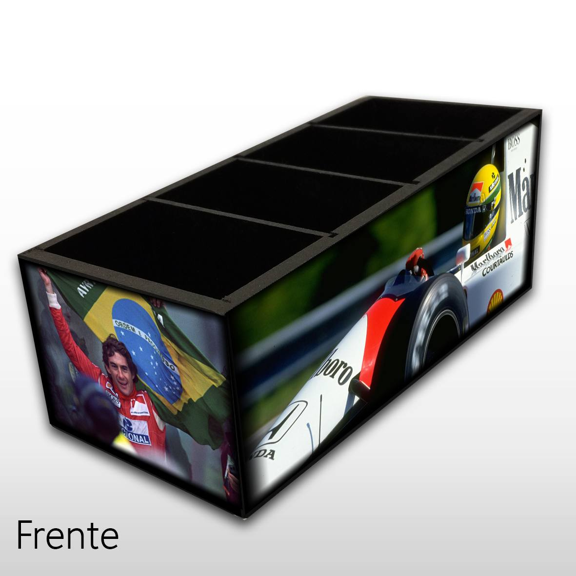 Ayrton Senna - Porta Controles MDF - 4 Espaços - Mr. Rock