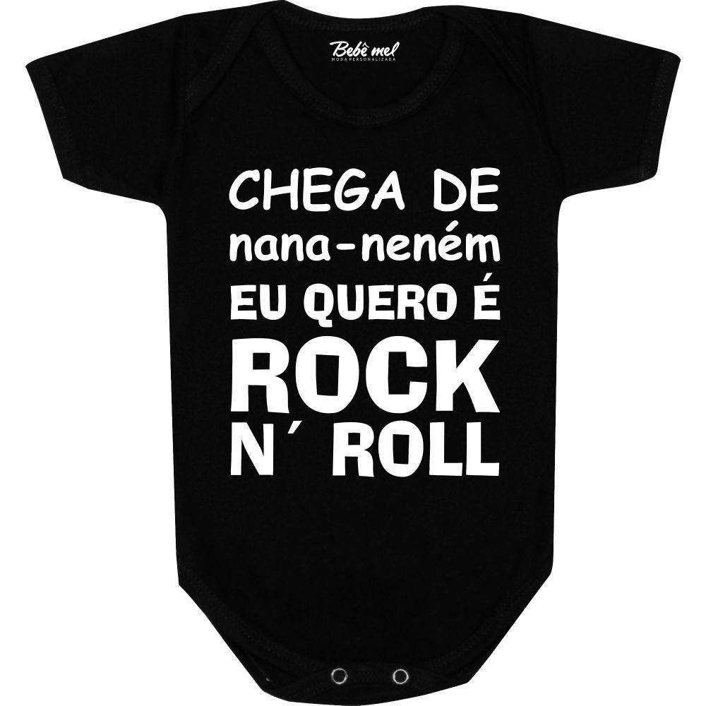 Body Bebê personalizado  Eu quero é Rock N´Roll