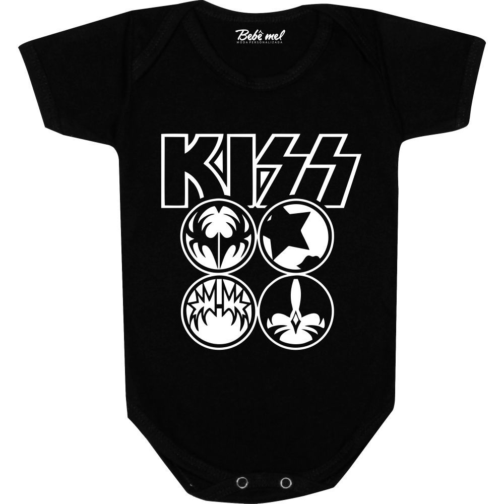 Body Bebê personalizado Banda Kiss