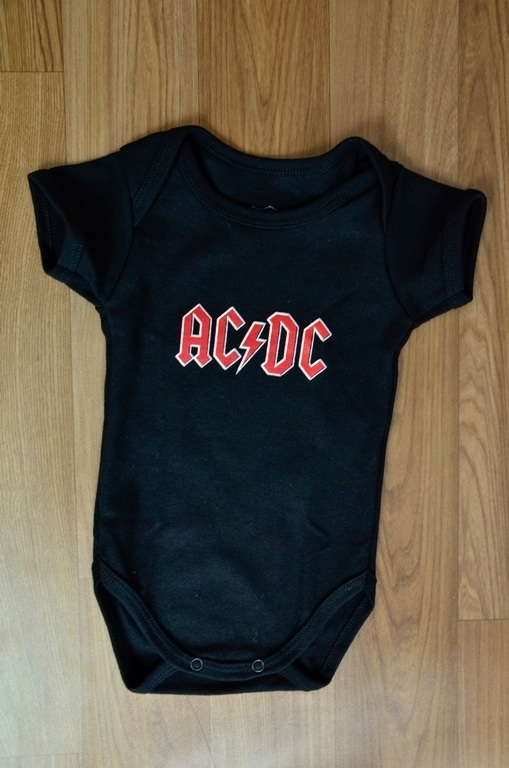 Body infantil AC DC Baby Rock