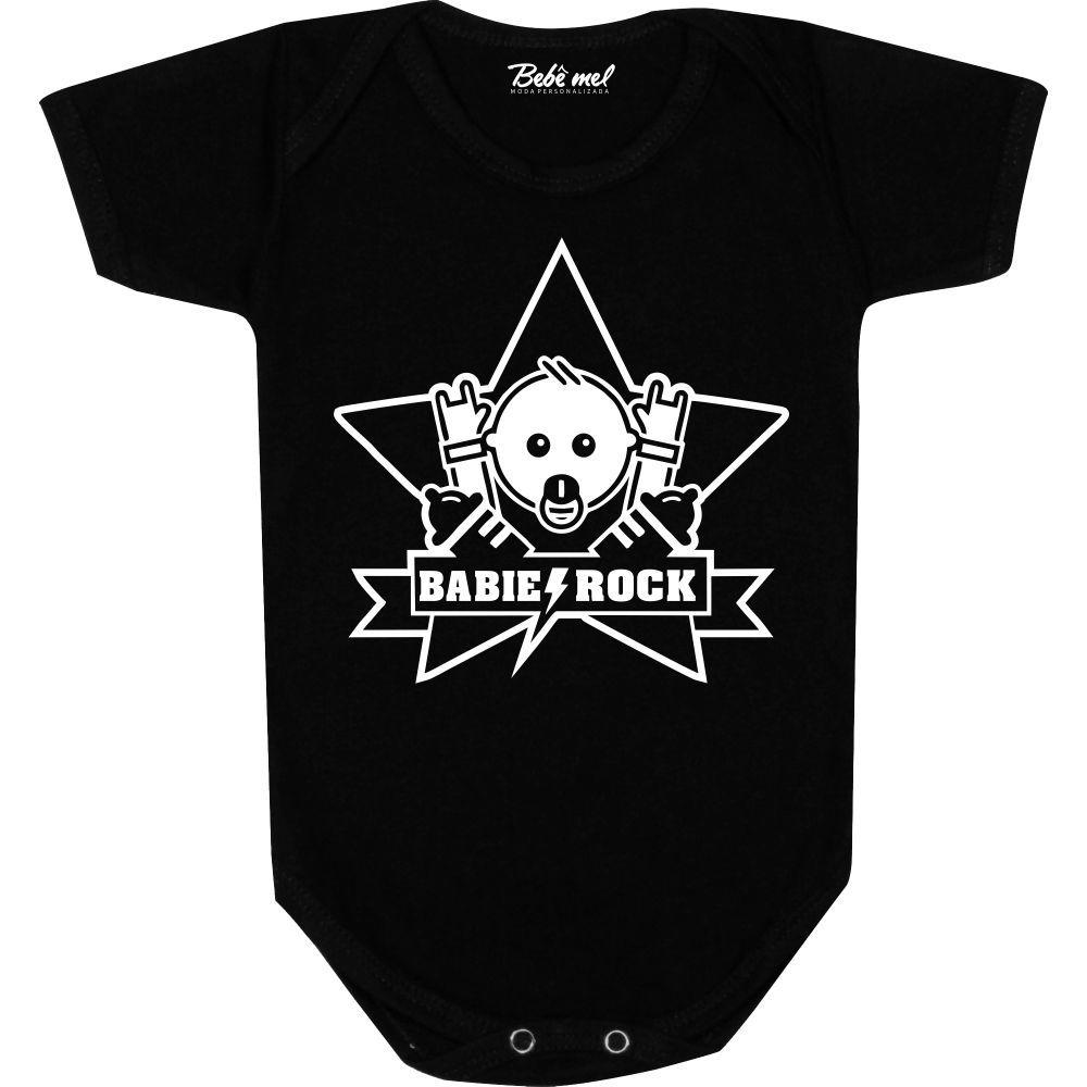 Body Bebê personalizado Babie Rock Star