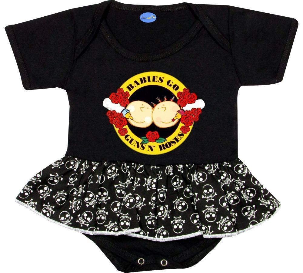 Body Saia Bebê personalizado Guns N´Roses Babies