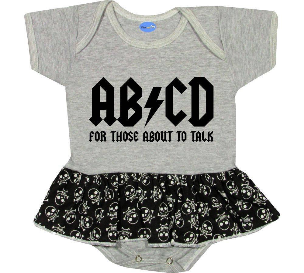 Body Saia Bebê personalizado ABCD