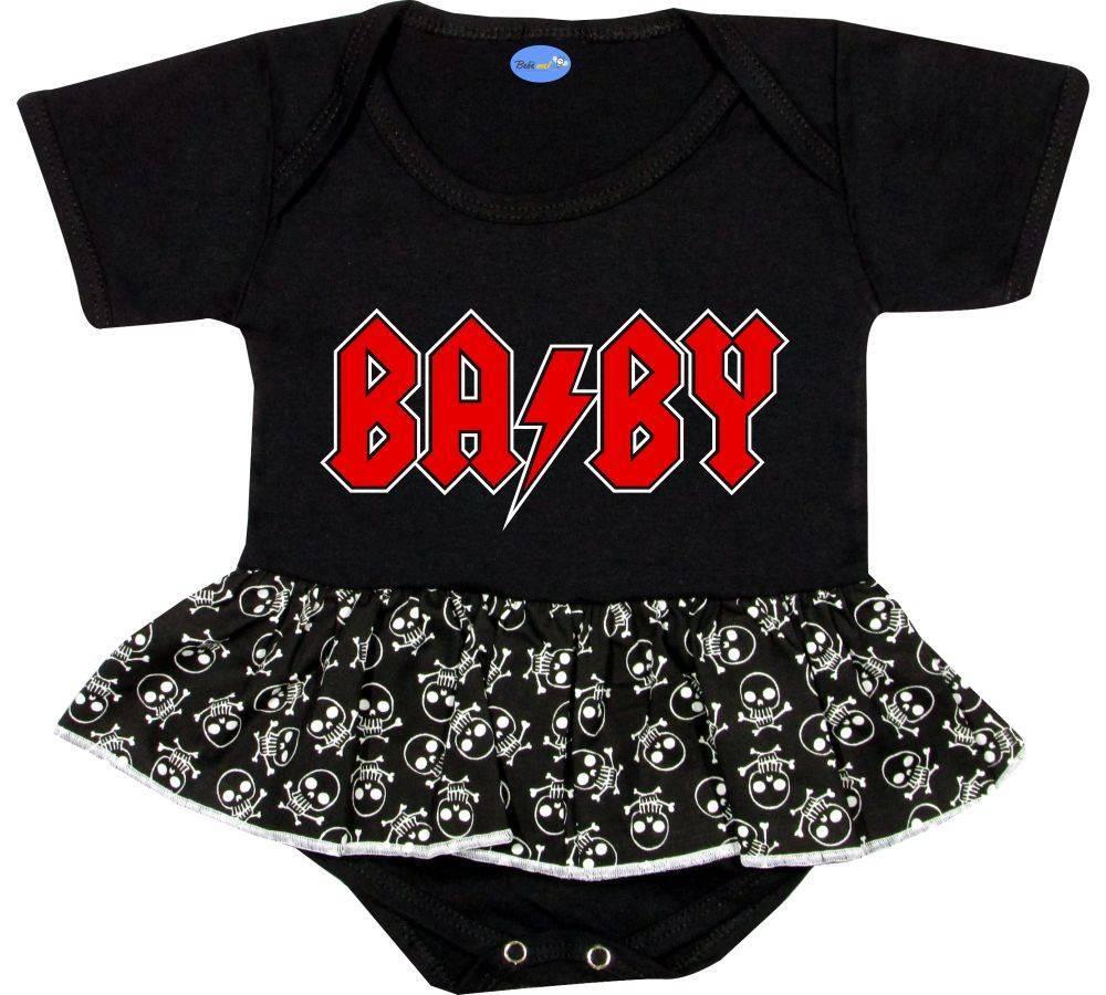 Body Saia Bebê personalizado frase BABY