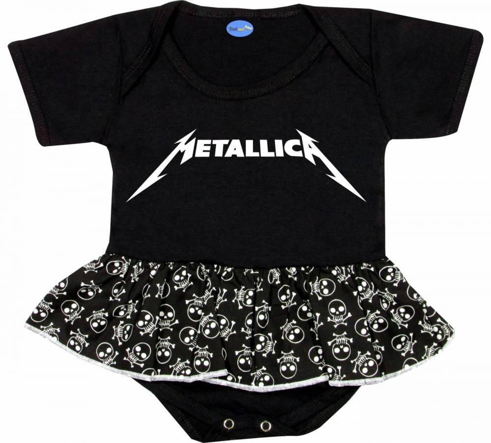 Body Saia Bebê personalizado Metallica