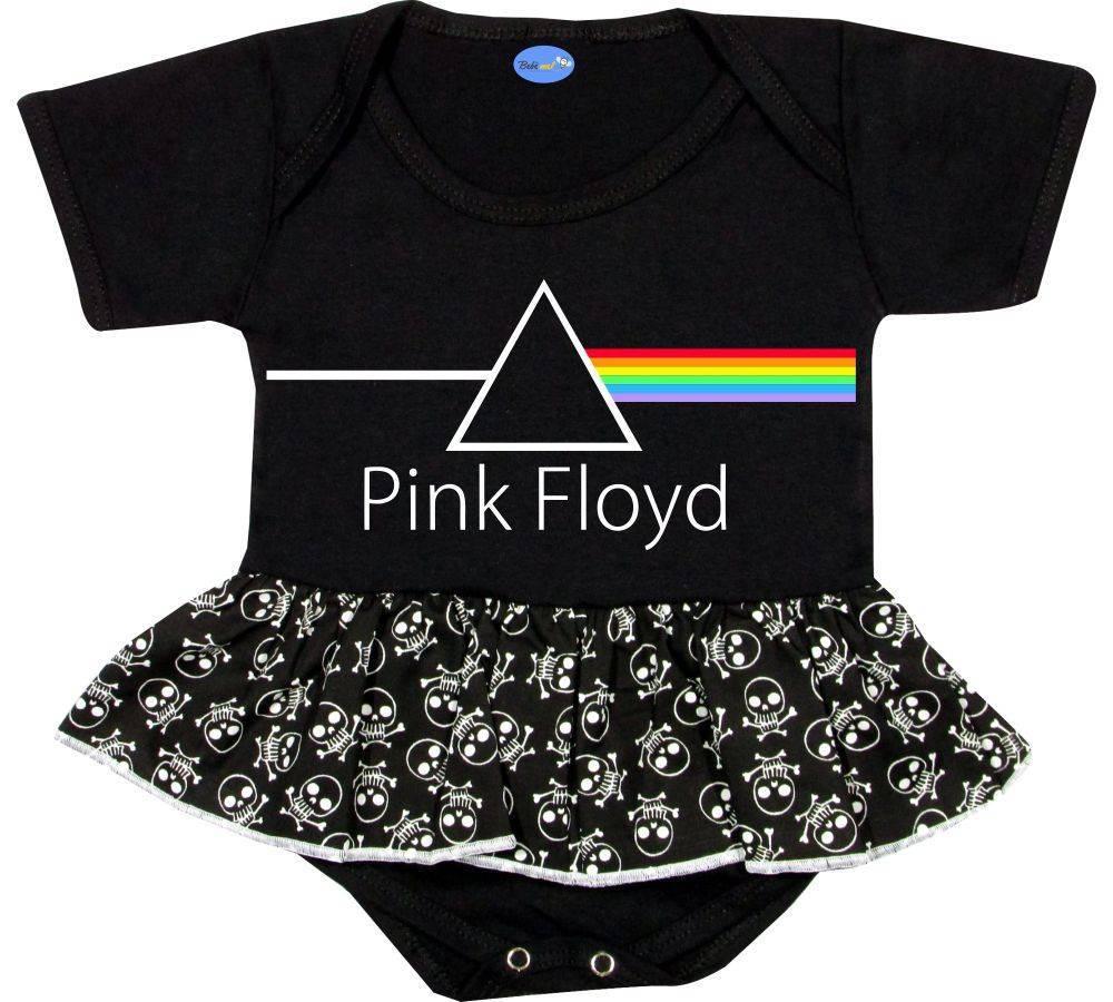 Body Saia Bebê personalizado Pink Floyd