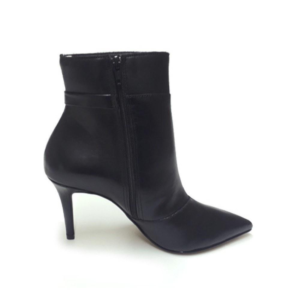 Bota Bico Fino Conceito Fashion 90301 Napa Preta Feminino