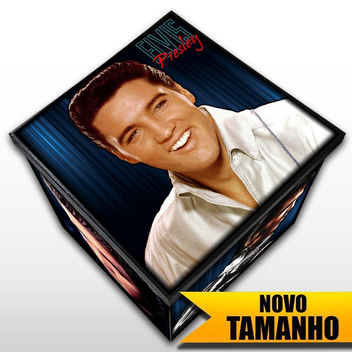 Elvis Presley - Caixa em Madeira MDF - Tamanho Grande - Mr. Rock