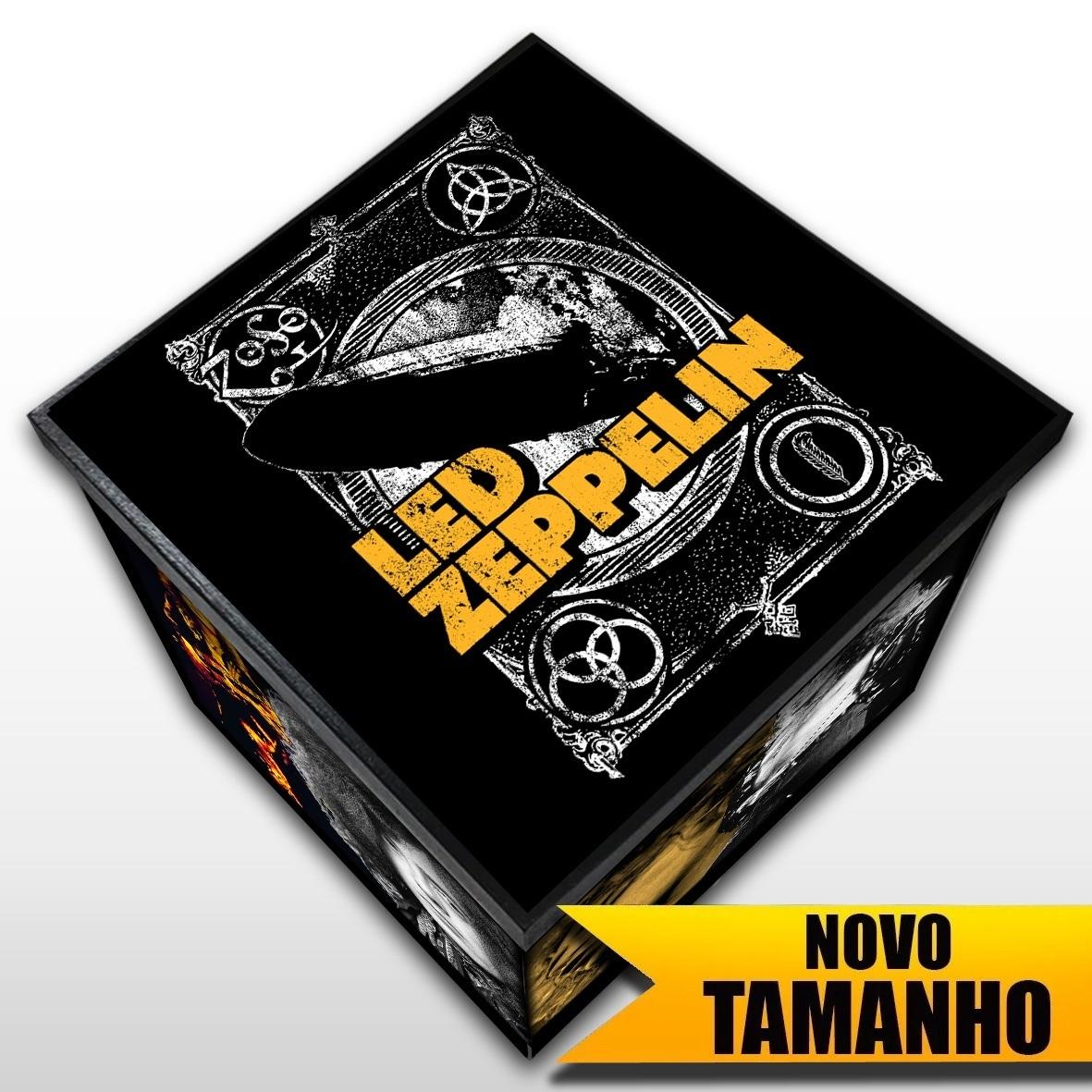 Led Zeppelin - Caixa em Madeira MDF - Tamanho Grande - Mr. Rock