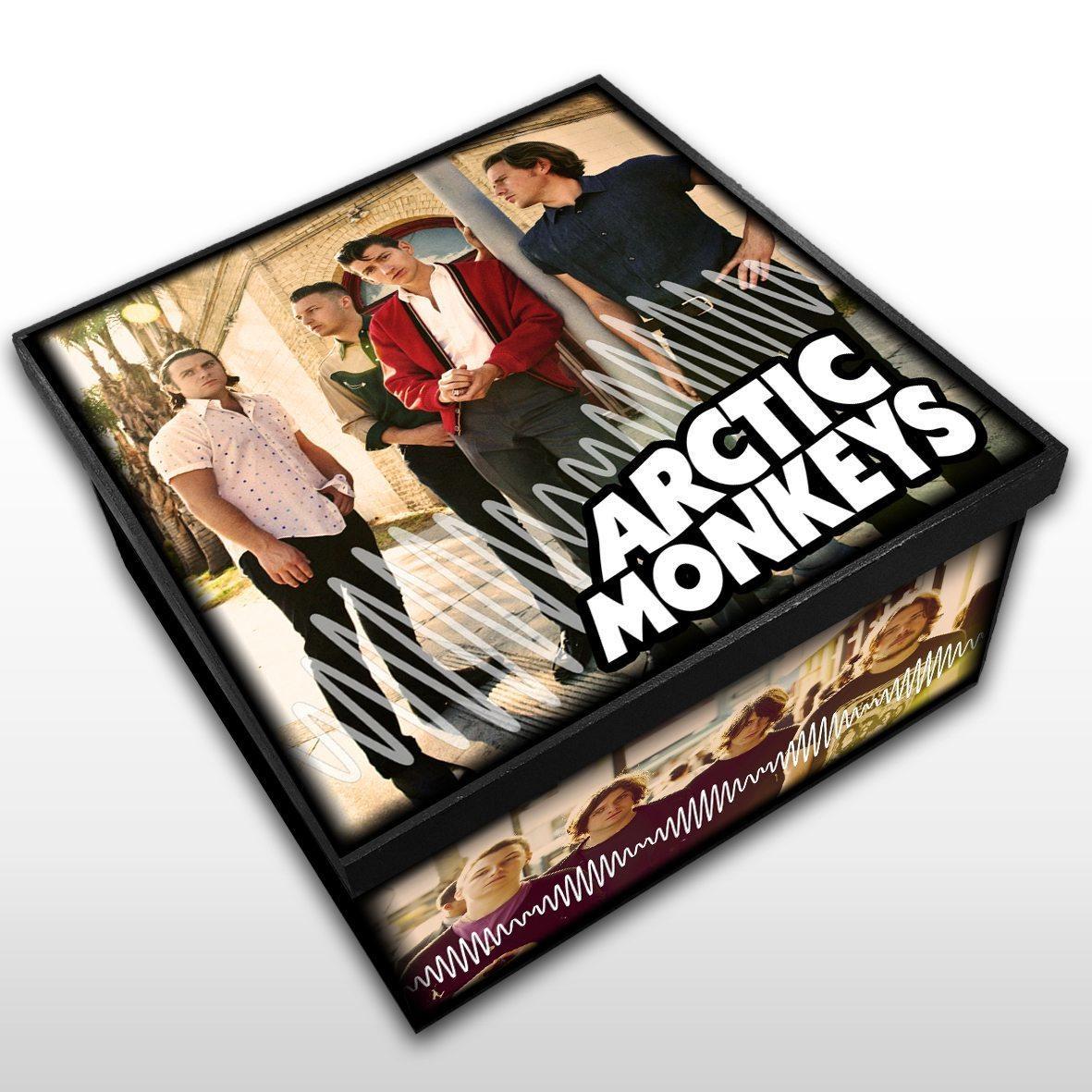 Arctic Monkeys - Caixa Organizadora em Madeira MDF - Tamanho Médio - Mr. Rock