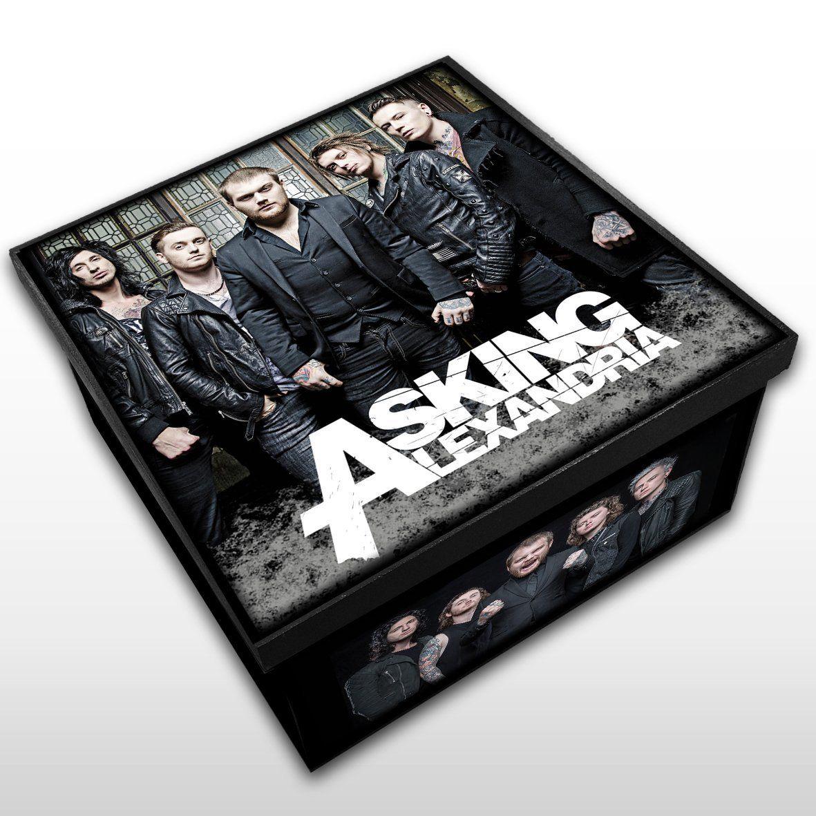 Asking Alexandria - Caixa em Madeira MDF - Tamanho Médio - Mr. Rock