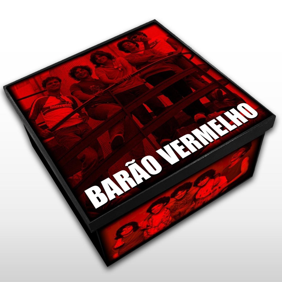 Barão Vermelho - Caixa Organizadora em Madeira MDF - Tamanho Médio - Mr. Rock