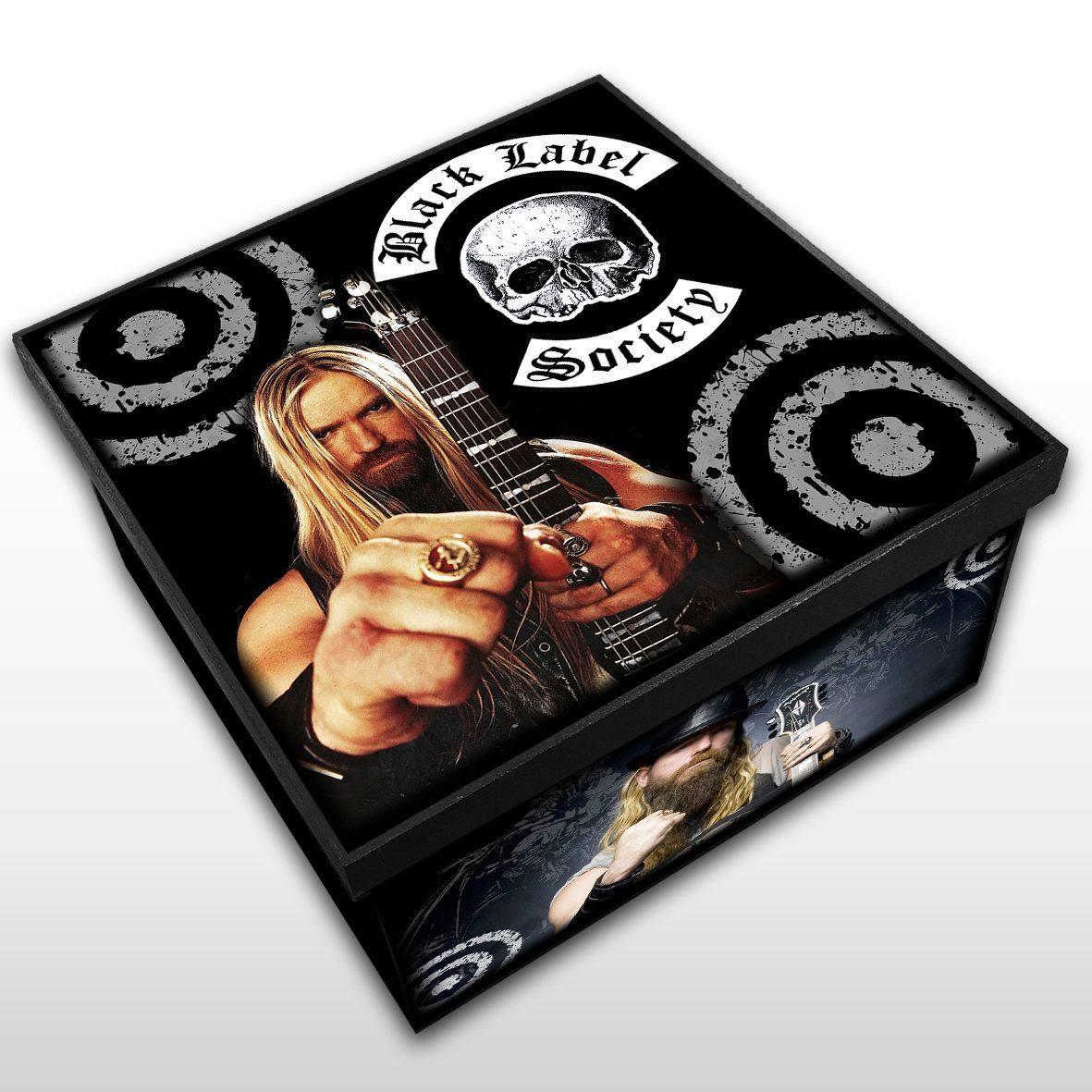 Black Label Society - Caixa em Madeira MDF - Tamanho Médio - Mr. Rock
