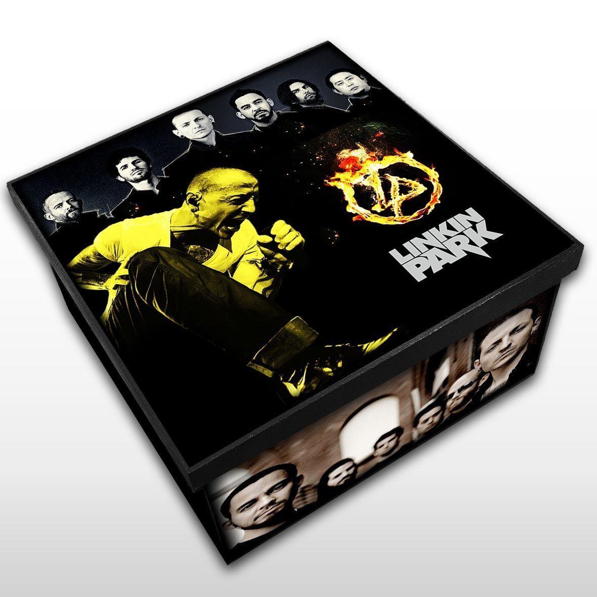 Linkin Park - Caixa em Madeira MDF - Tamanho Médio - Mr. Rock