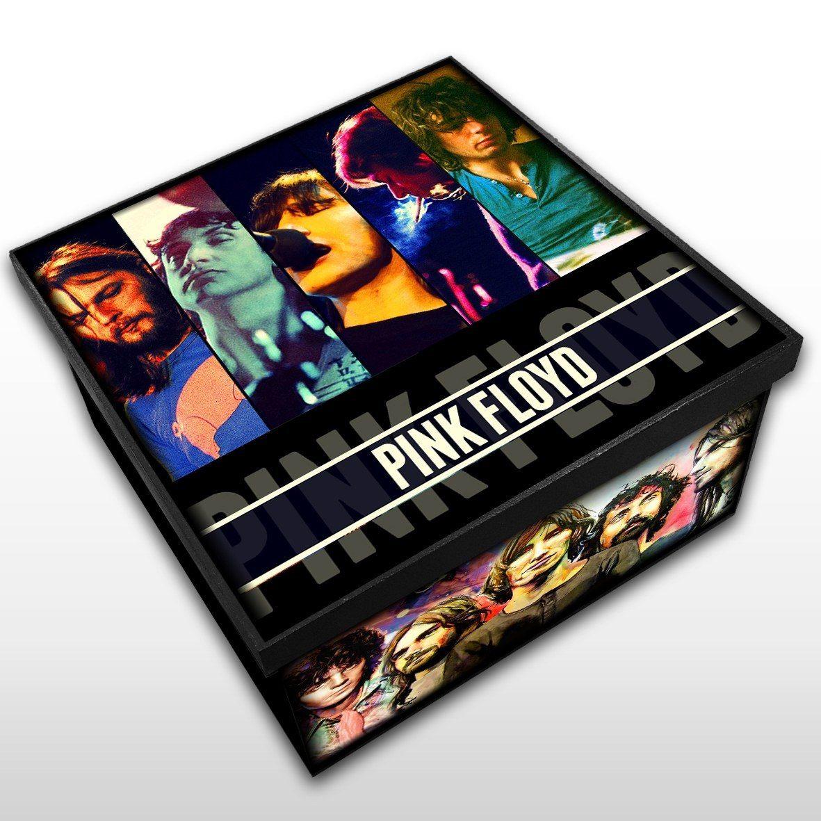 Pink Floyd - Caixa Organizadora em Madeira MDF - Tamanho Médio - Mr. Rock