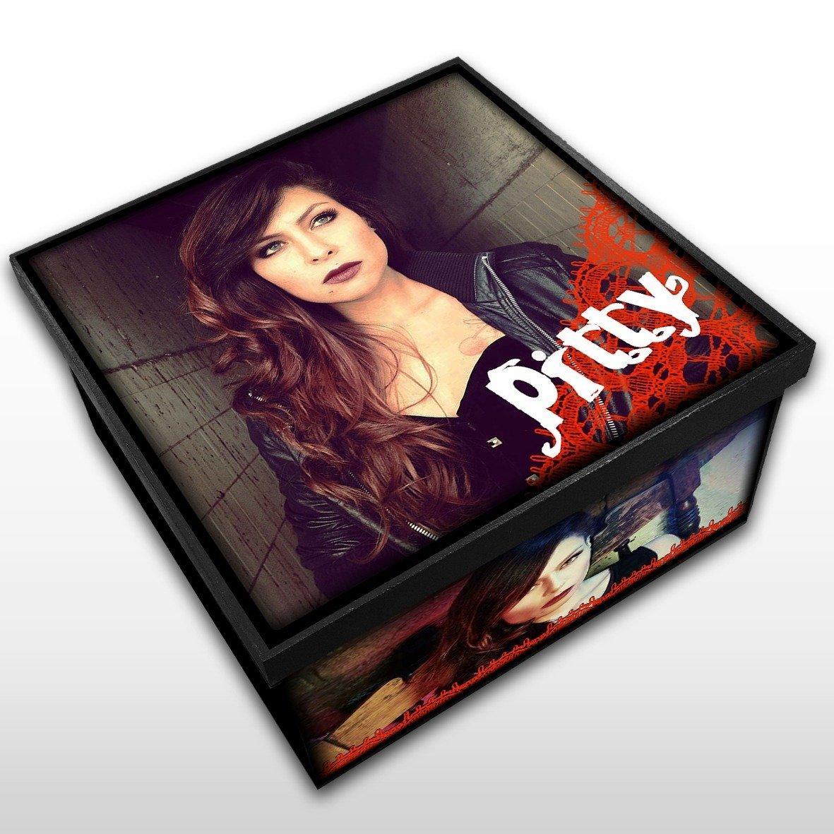 Pitty - Caixa Organizadora em Madeira MDF - Tamanho Médio - Mr. Rock