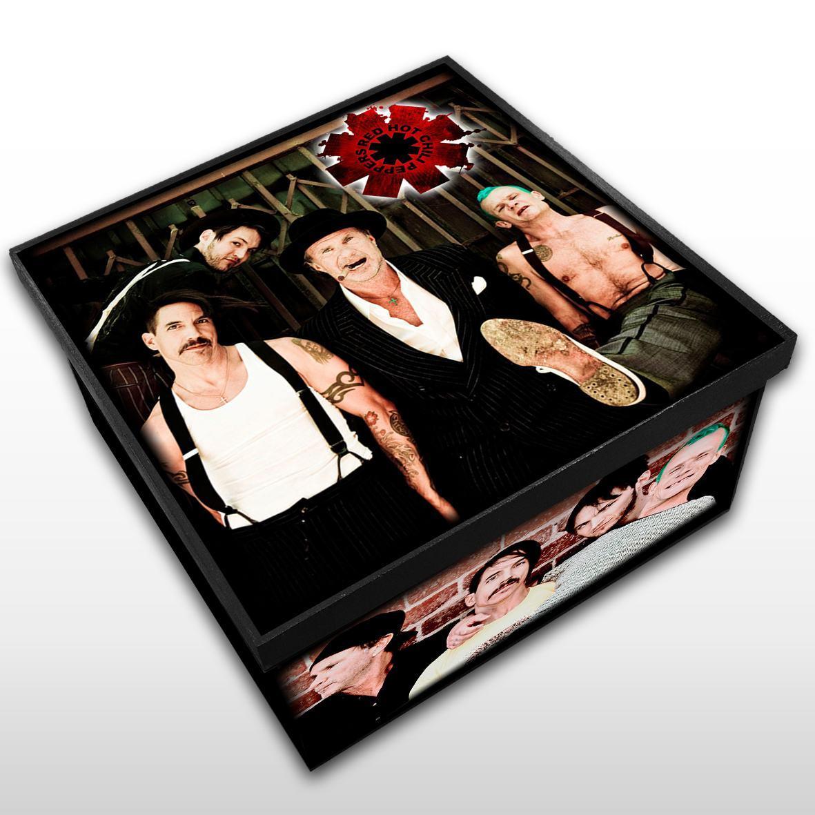 Red Hot Chili Peppers - Caixa em Madeira MDF - Tamanho Médio - Mr. Rock
