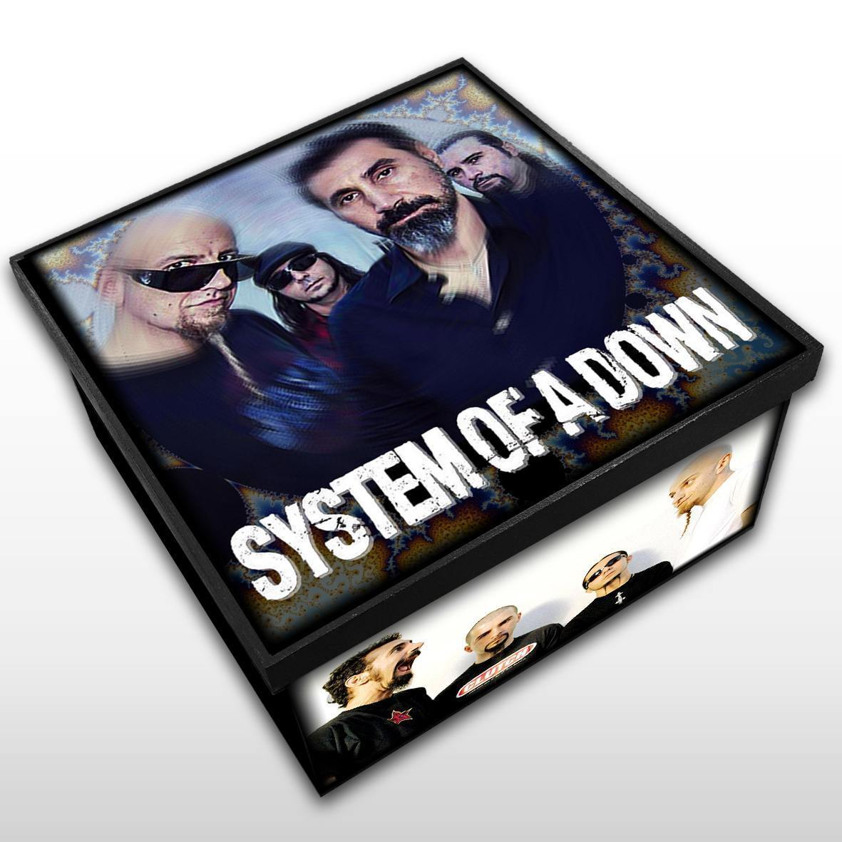 System Of A Down - Caixa em Madeira MDF - Tamanho Médio - Mr. Rock