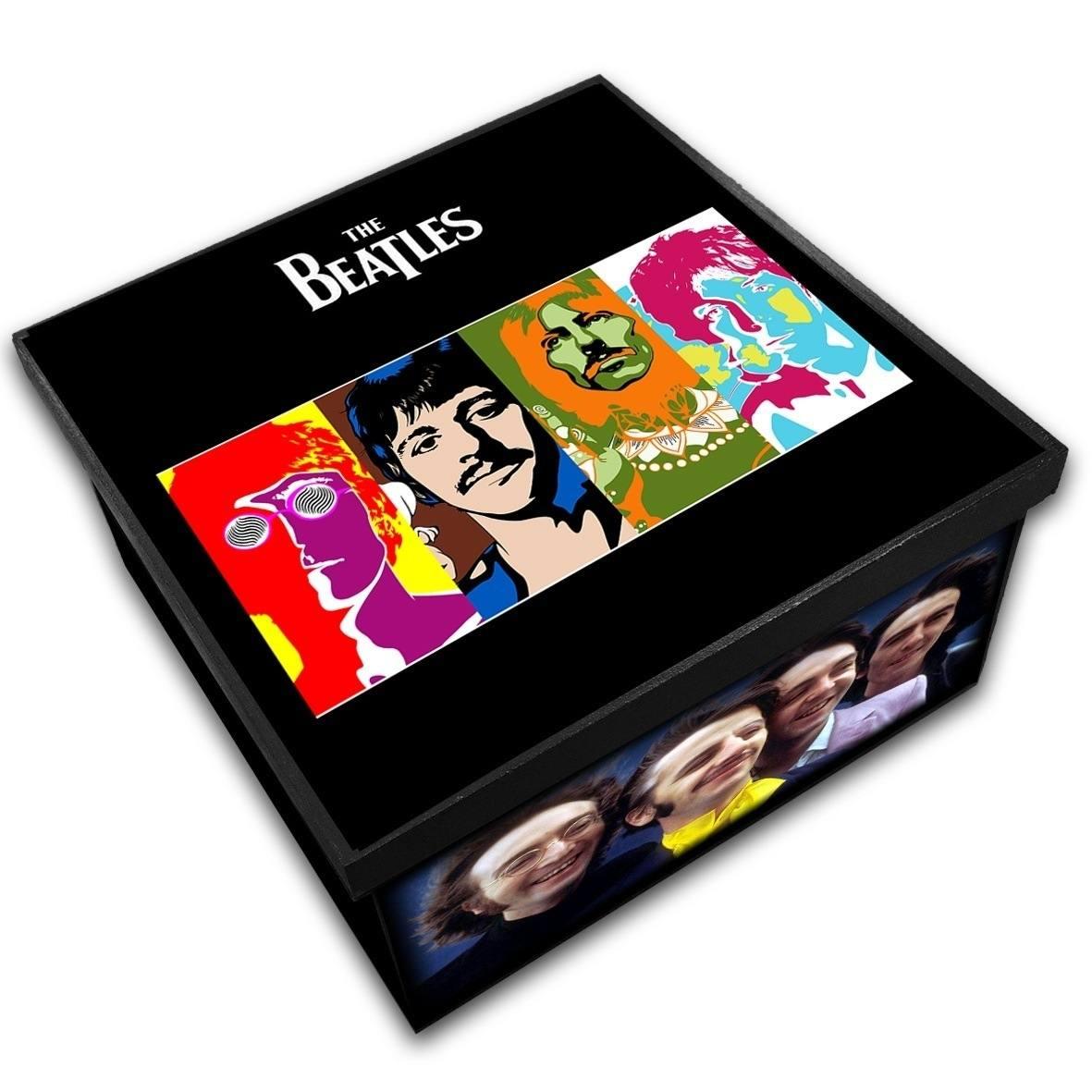 The Beatles - Caixa em Madeira MDF - Tamanho Médio - Mr. Rock