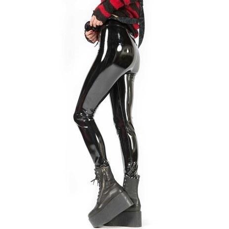 Calça Legging em PVC Vinil Ultra Brilho Lisa