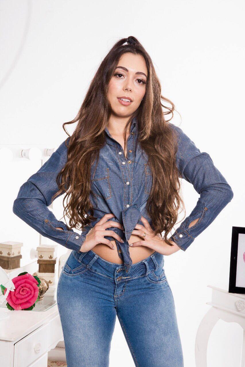Camisa Jeans Feminina Amaciada [5591]