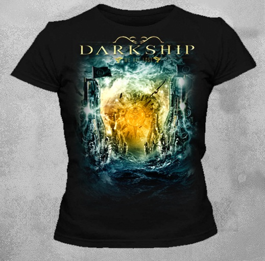 Camiseta Baby Look Feminina Preta Darkship We Are Lost