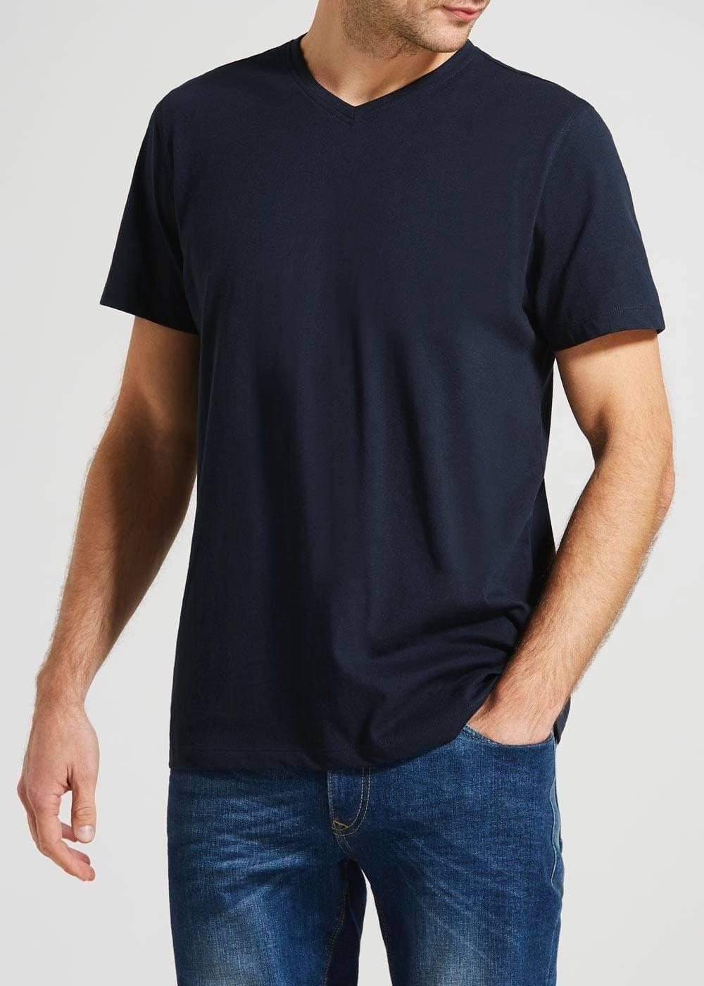 Camiseta básica masculina  gola V