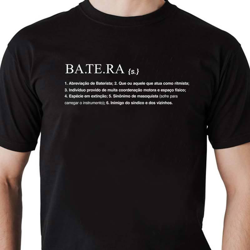 Camiseta Batera Dicionário Masculina