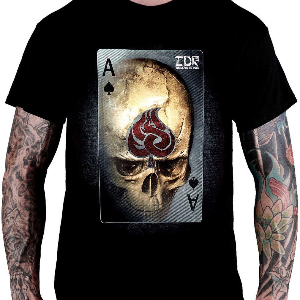 Camiseta Caveira Ace of Spade - Consulado do Rock