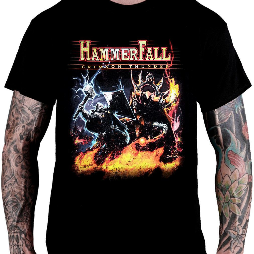 Camiseta Hammerfall Crimson Thunder - Consulado do Rock