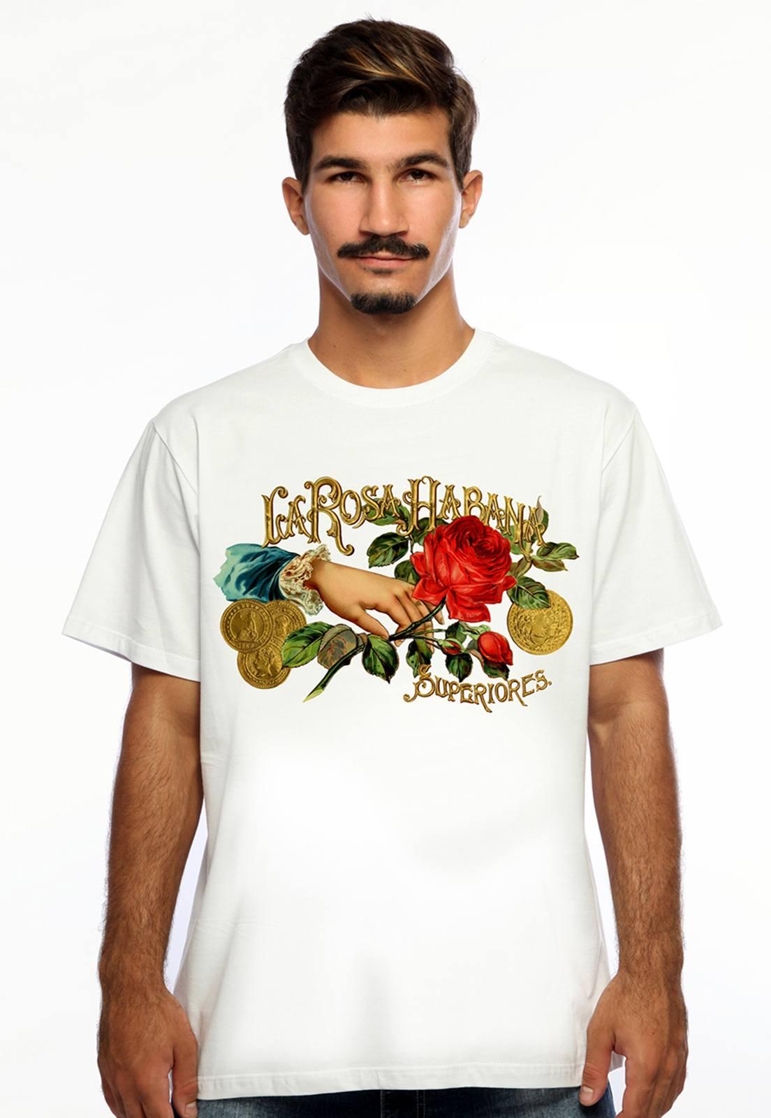 Camiseta Hardivision Cuba Manga Curta Branca