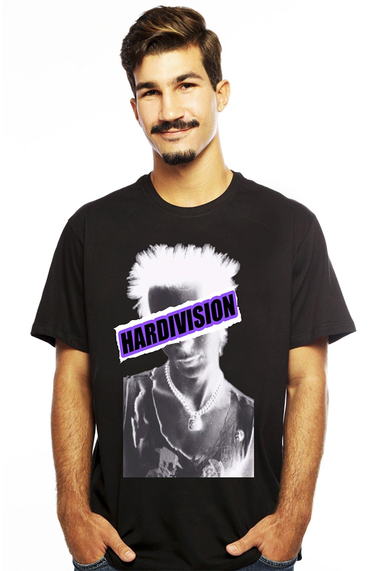 Camiseta Hardivision Sid Manga Curta Preto