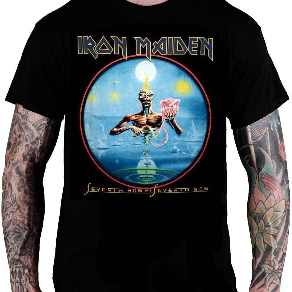 Camiseta Iron Maiden Capa do Álbum Seventh Son of a Seventh Son - Consulado do Rock