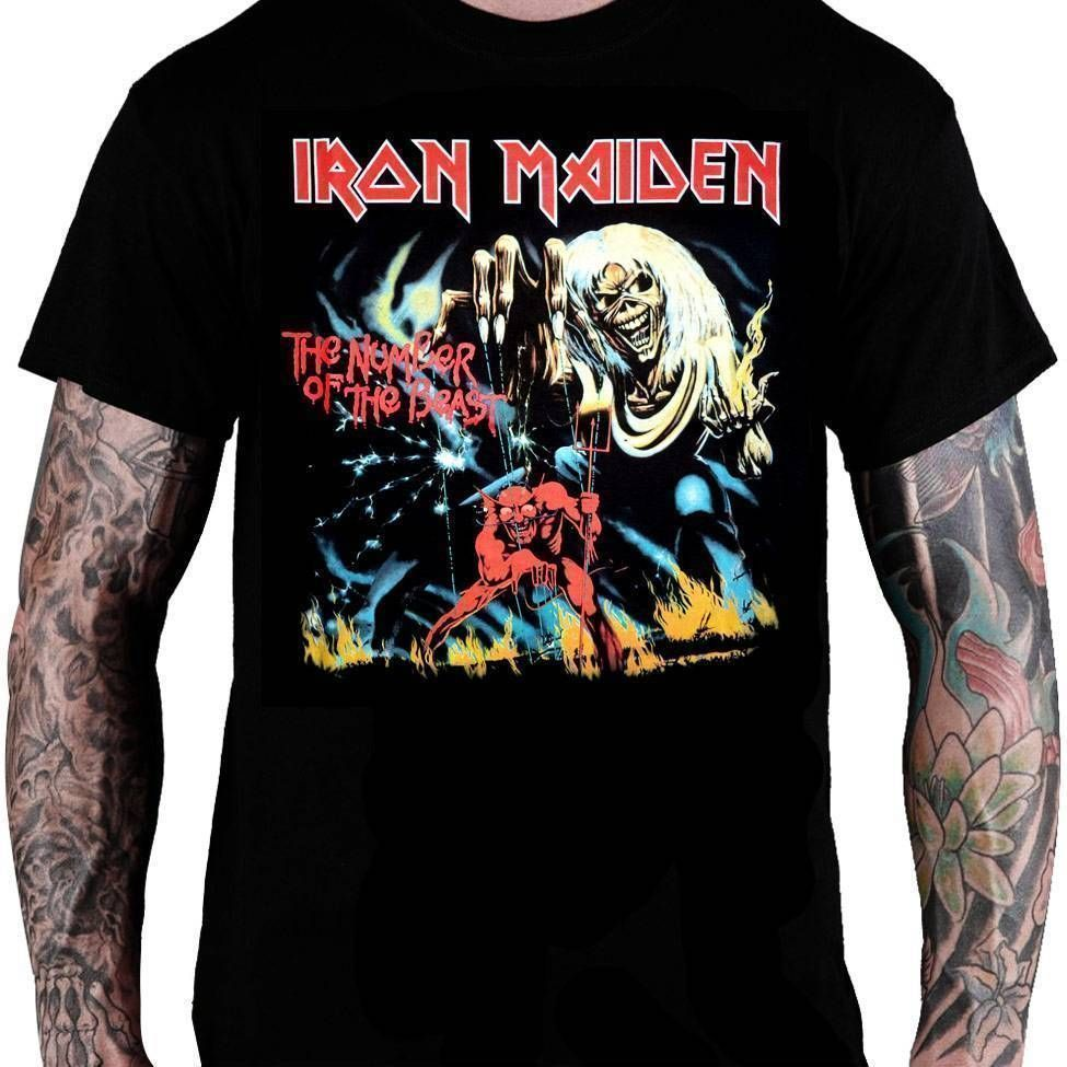 Camiseta Iron Maiden The Number of the Beast - Consulado do Rock