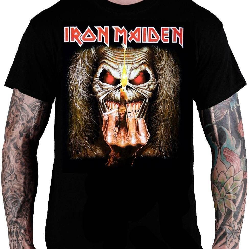 Camiseta Iron Maiden Up The Irons - Consulado do Rock