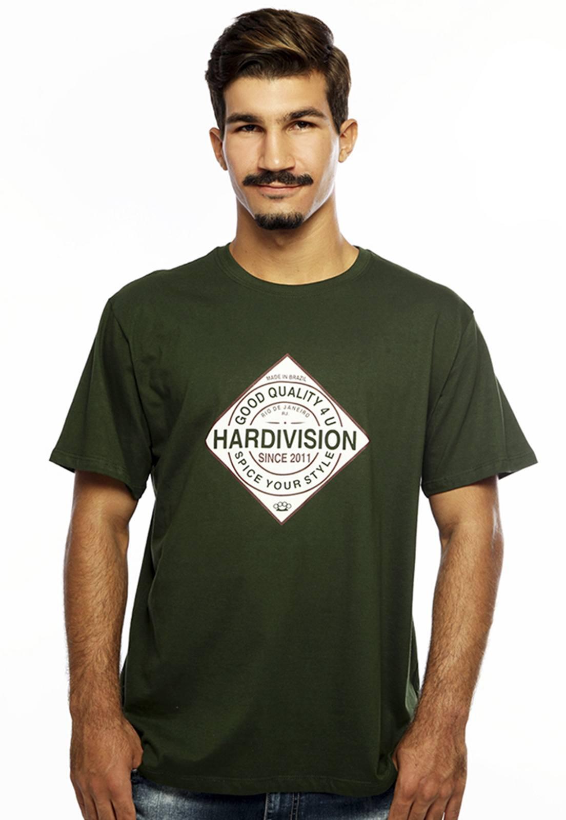 Camiseta Hardivision Spice Manga Curta Verde