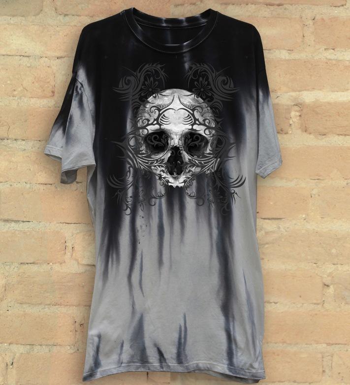 Camiseta Masculina Skull Tribal - Hail Custom Wear