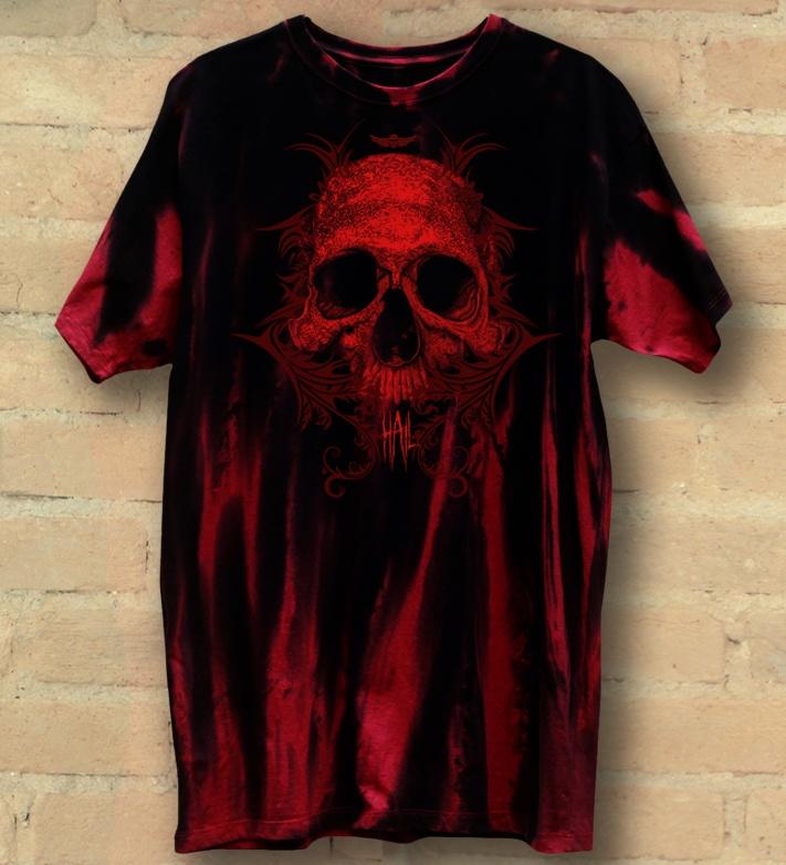 Camiseta Masculina Skull Tribal Red Version - Hail Custom Wear