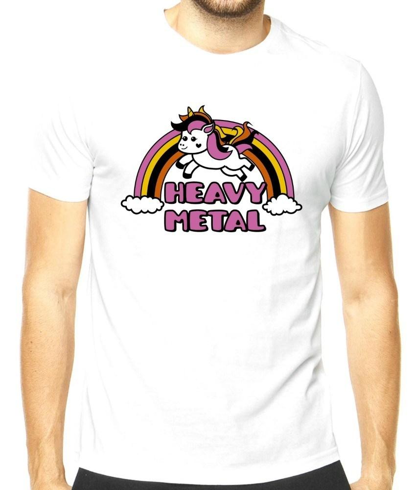 Camiseta masculina Unicórnio Heavy Metal II