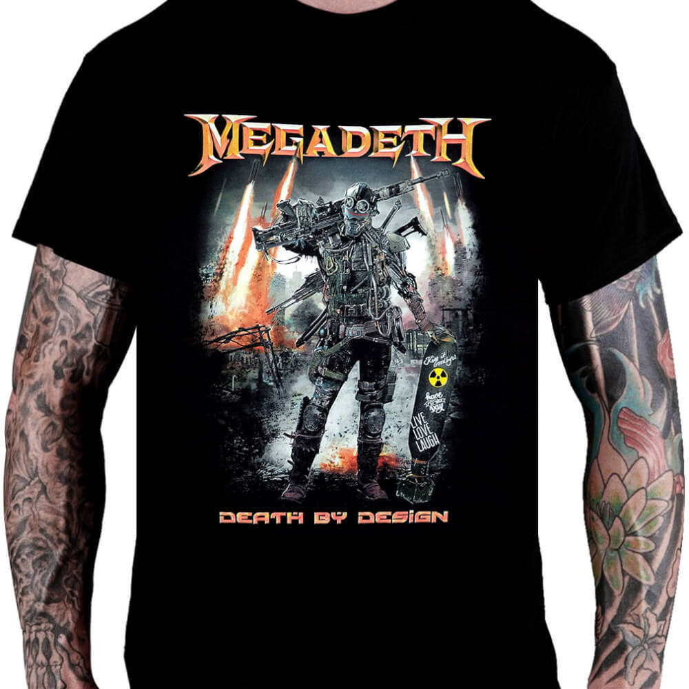 Camiseta Megadeth Death by Design - Consulado do Rock