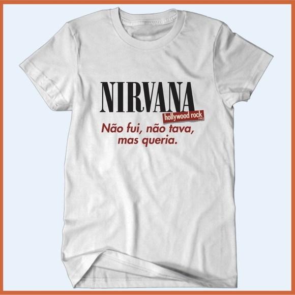 Camiseta Nirvana 1993 - Não fui, mas queria - Camisetas Rápido