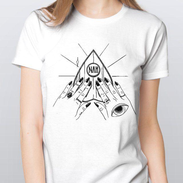 Camiseta Baby Look Feminina Ouija Branca