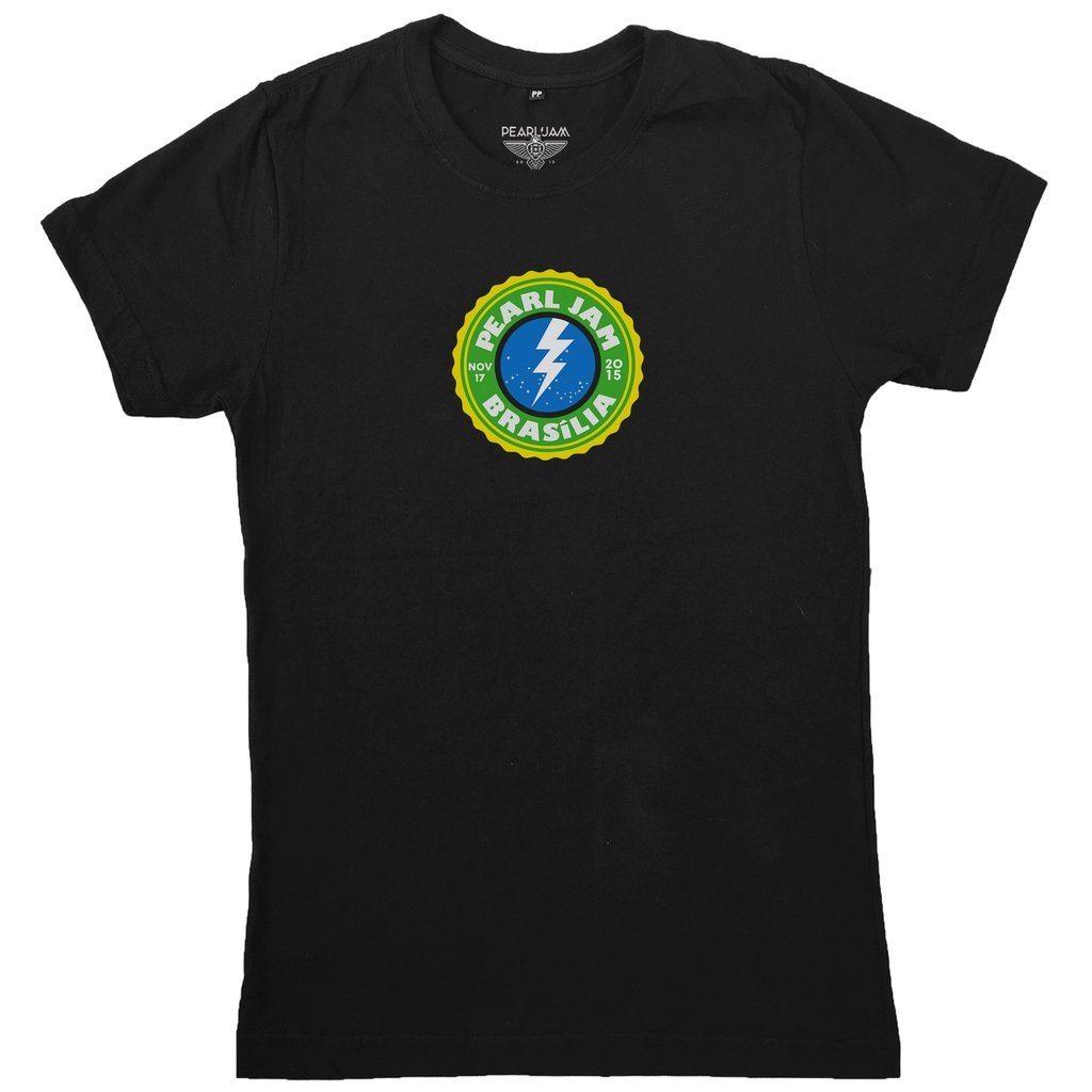 """Camiseta Pearl Jam - """"Event Tee Brasília 2015"""""""