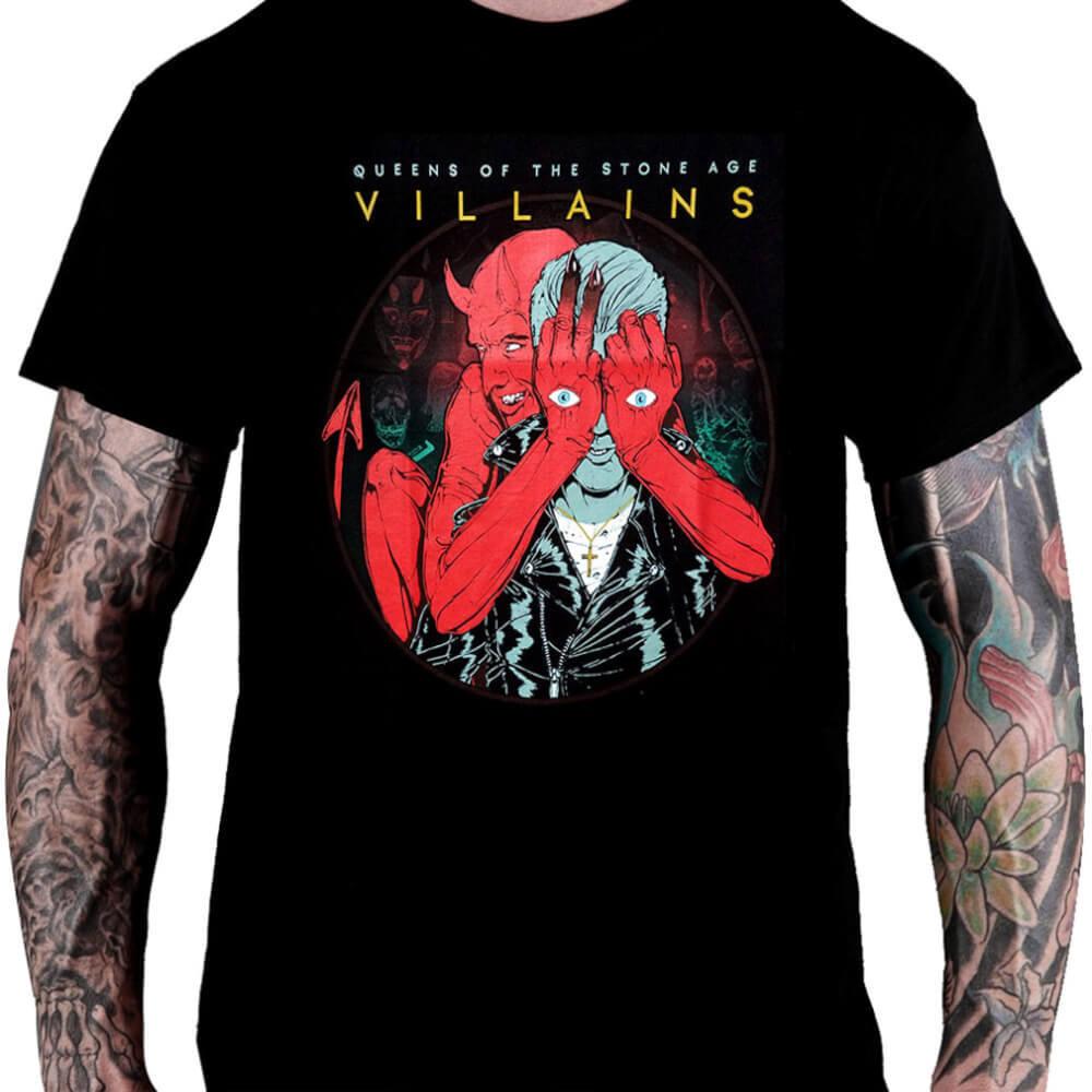 CamisetaQUEENS OF THE STONE AGE – Villains