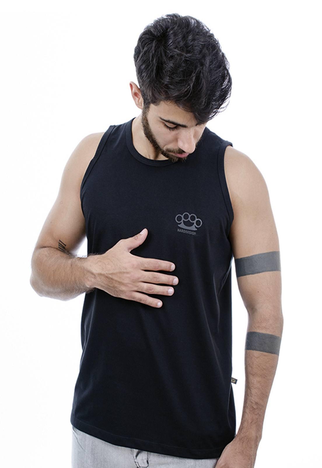 Camiseta Regata Hardivision Simple Preto