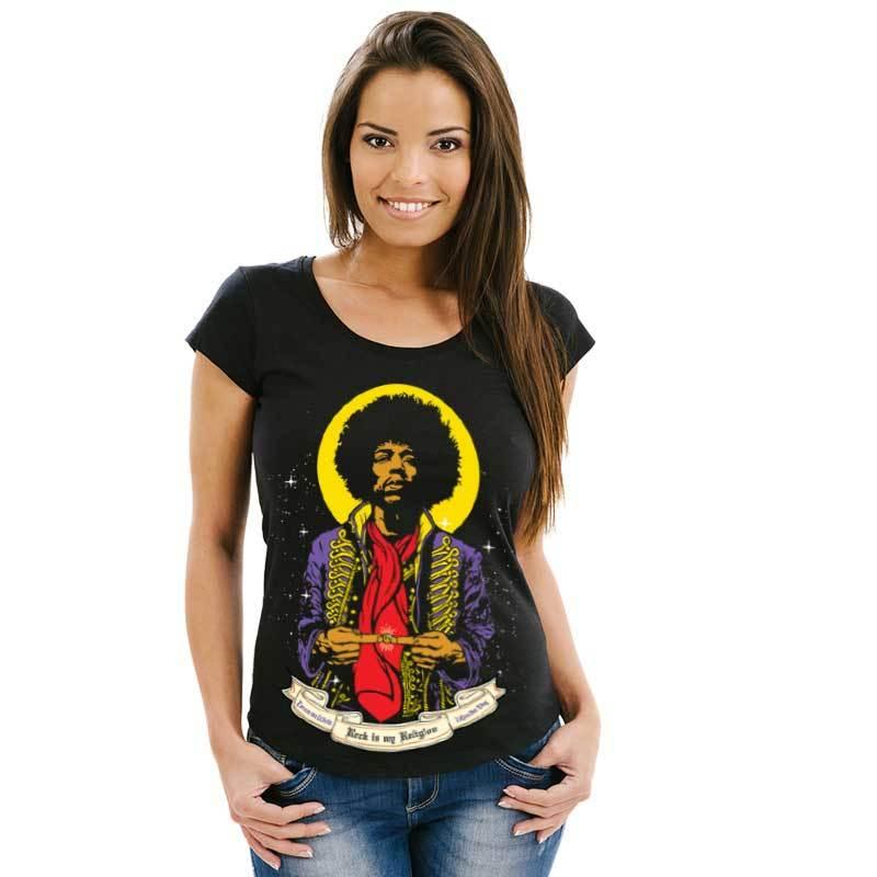 Camiseta feminina St. Jimi Hendrix